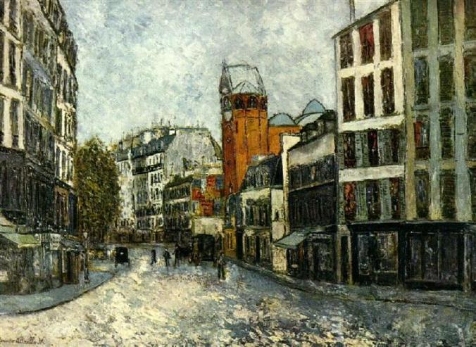 Streets of Montmartre - Maurice Utrillo painting