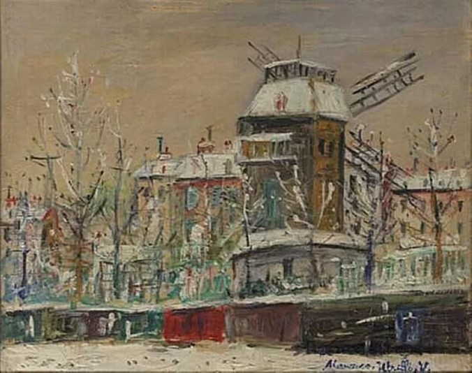 Montmartre - Maurice Utrillo painting