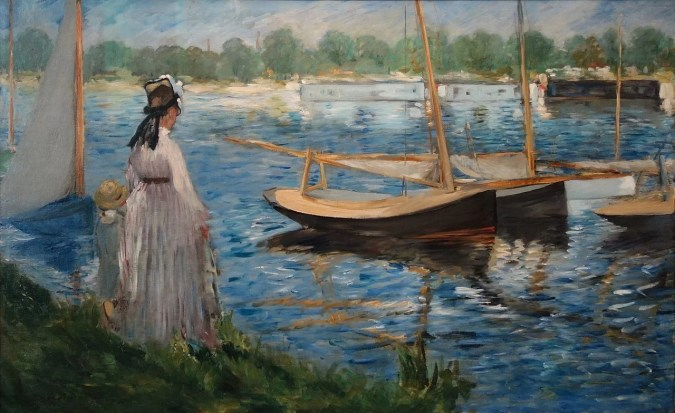 Bank of the Seine - Manet painting