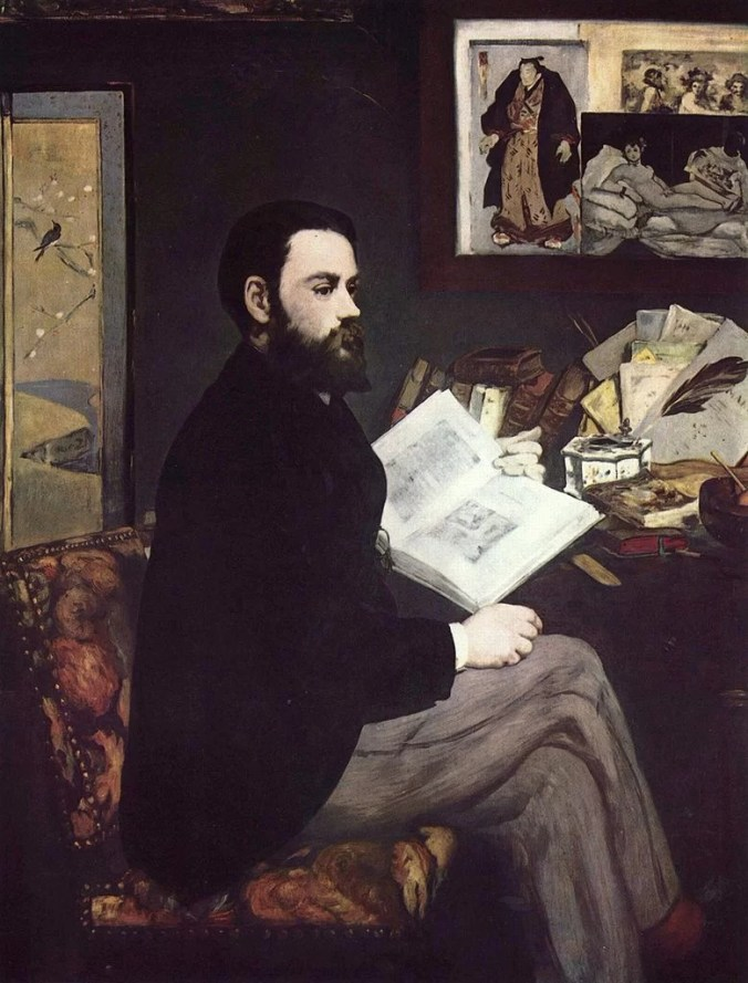 Portrait of his friend Emil Zola- Manet Painting