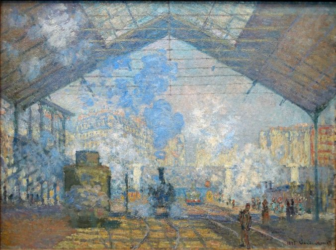 claude monet artwork - The Gare Saint-Lazare