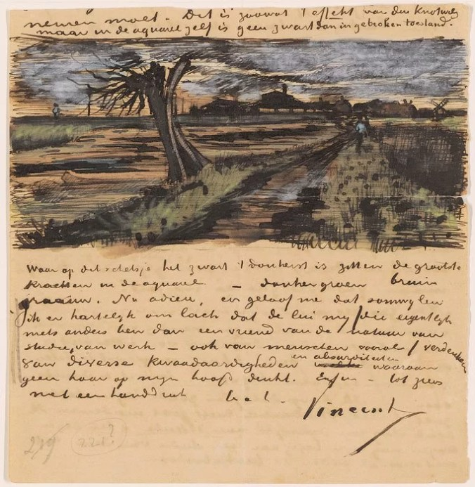 Vincent Van Gogh drawings and letters to Theo