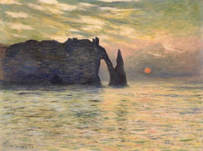 Etretat cliffs - Claude Monet Painting