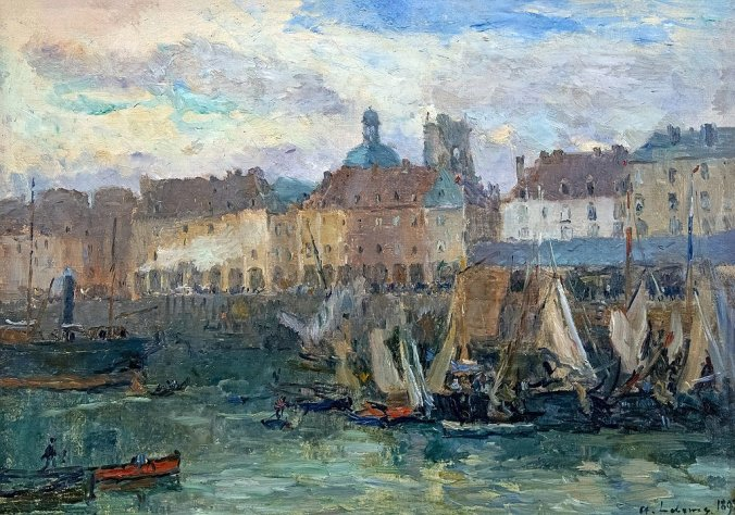 Dieppe Port - Albert Lebourg Painting