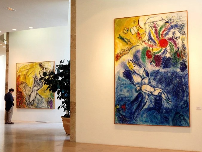 Biblical paintings by Marc Chagall - Musee National Marc Chagall, Nice