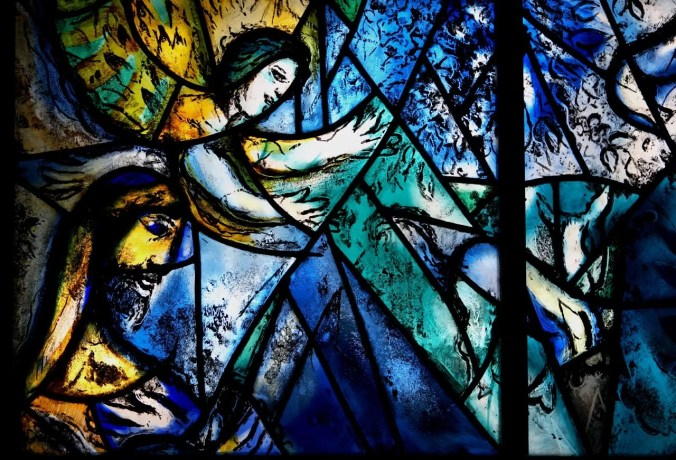 close up detail of the Chagall's Peace Window at the United Nations