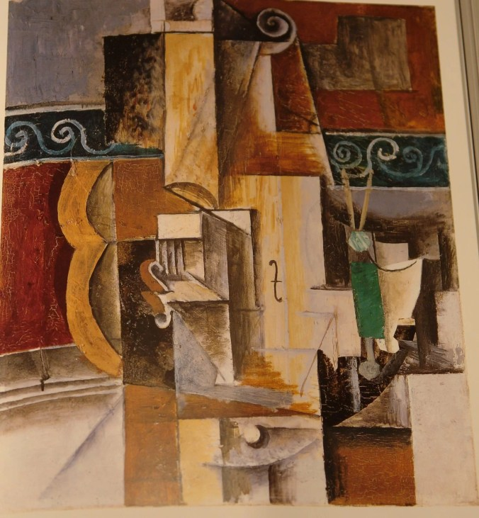 Famous Picasso painting entitled: Violin and Guitar - Cubism art