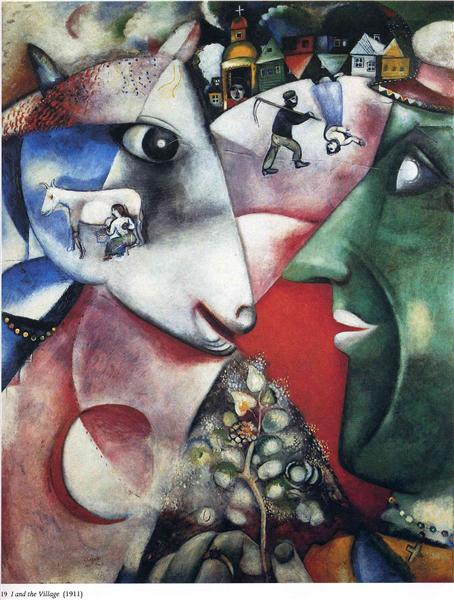 Marc Chagall Painting - I and The Village 1911