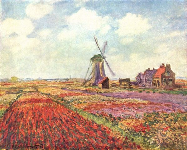 Windmill in Holland - Claude Monet Paintings