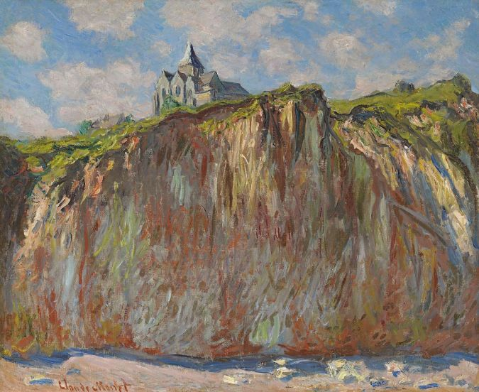 Varengeville Saint Valery Church painting - impressionist art Monet