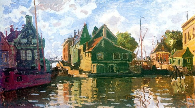 The Canal in Zaandam - Claude Monet Painting
