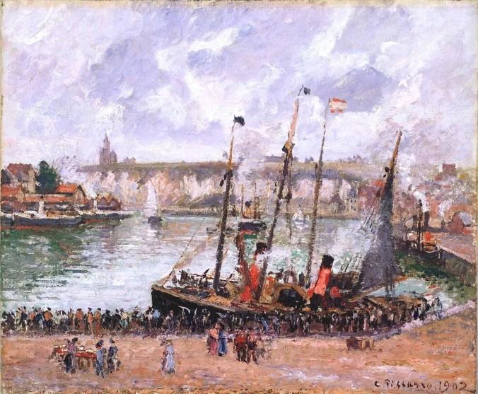 Dieppe Port - Camille Pissarro Painting