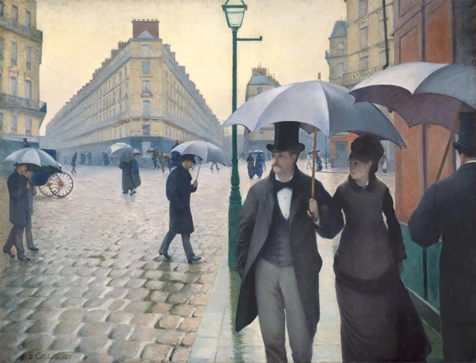 Rainy Day in Belle Epoque Paris - Gustave Caillebotte Painting