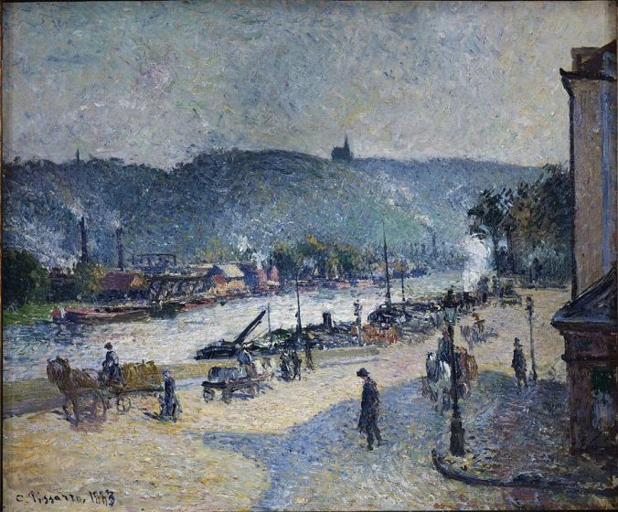 Rouen  - River Seine Painting by Camille Pissarro