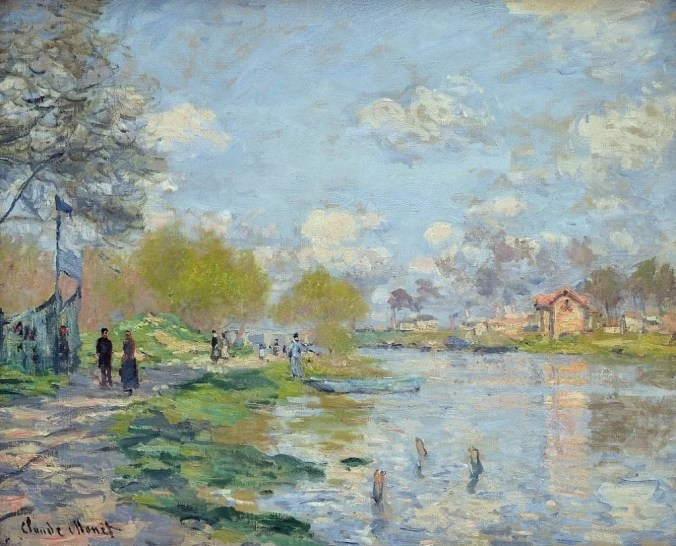 Ile de la Grande Jatte  by Claude Monet painting