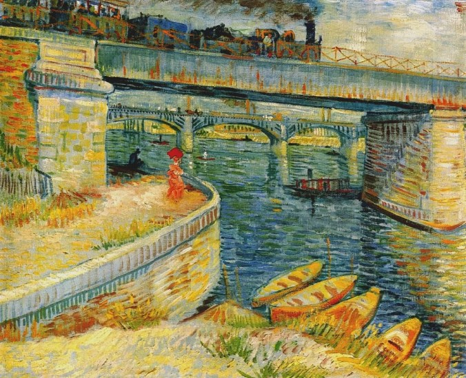 Seine painting at Asnieres - Van Gogh landscapes