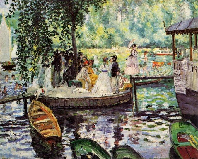 La Grenouillere  - Pierre Auguste Renoir Painting