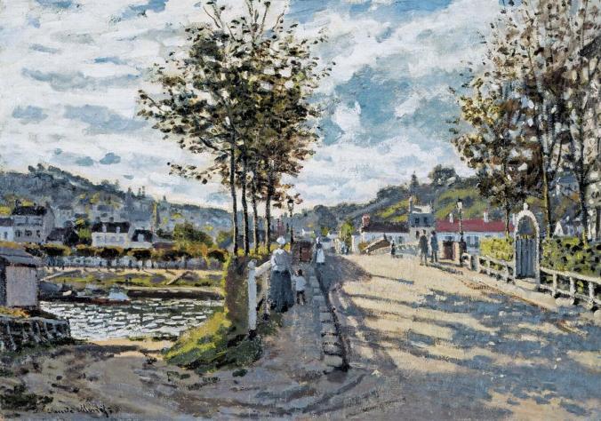 The Bridge at Bougival - Claude Monet Landscape
