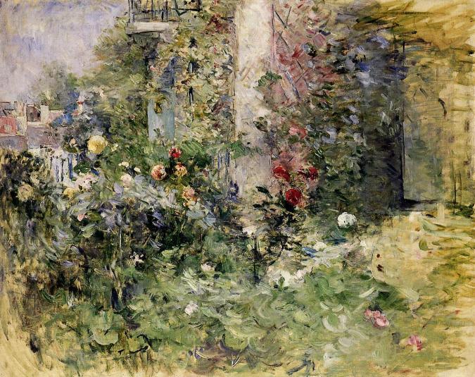 The Garden in Bougival - Berthe Morisot Paintings