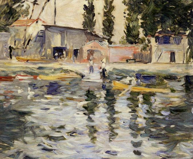 Bougival -River Seine Painting  by Berthe Morisot