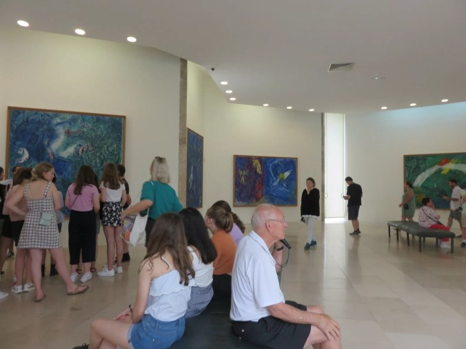 Chagall Museum in Nice - showing casing many famous artworks