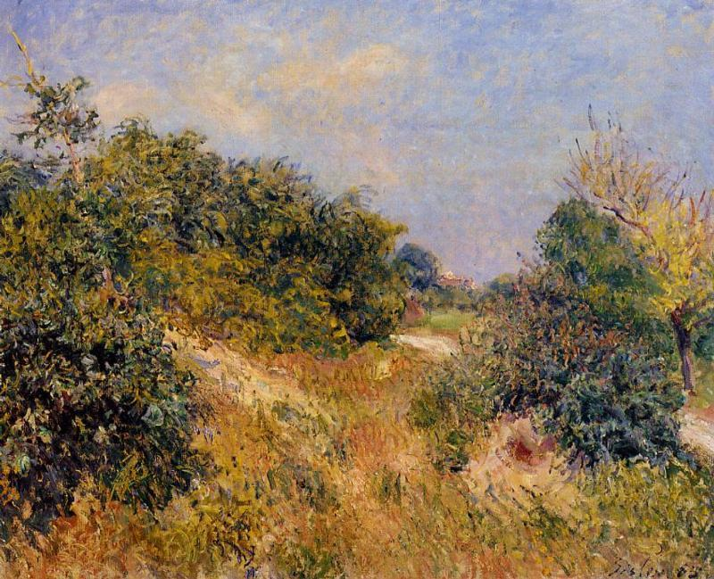 Alfred Sisley Painting- Fontainebleau Forest