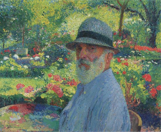 Neo-impressionism painter Henri Martin - Self Portrait