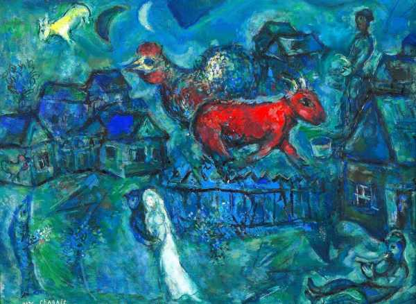 Chagall painting of village life
