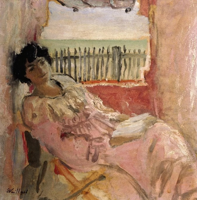 Lucy Hessel at the Sea Shore - Vuillard Painting