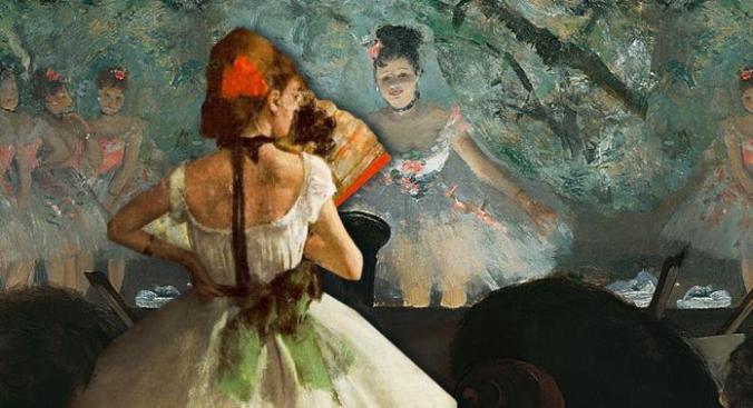 Edgar Degas painting of Ballerinas