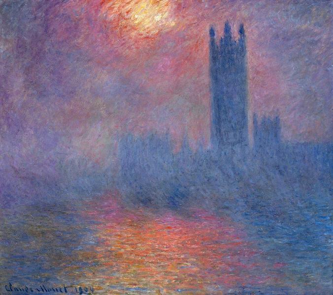 Houses of Parliament from Claude Monet's London Series [Public Domain]