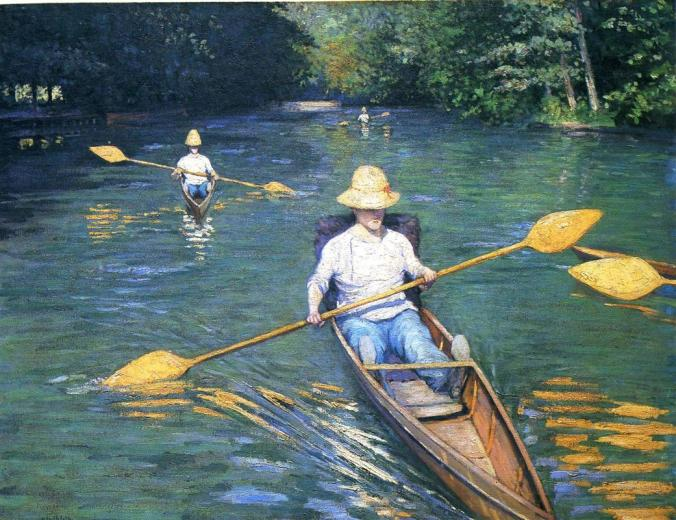 Boating in Yerres - Caillebotte Painting