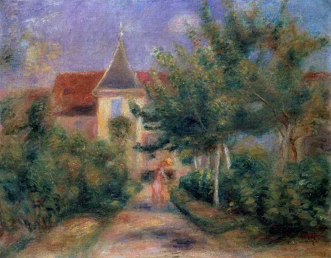 Renoir's home in Essoyes - Pierre-Auguste Renoir painting