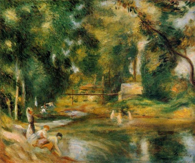 Renoir Landscape painting of Essoyes [Public Domain]