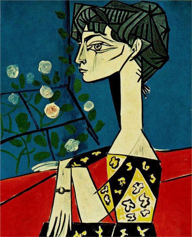Jacqueline Roque portrait by Pablo Picasso