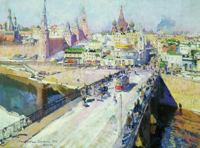 Moskvoretsky Bridge Moscow -  Konstantin Korovin Painting