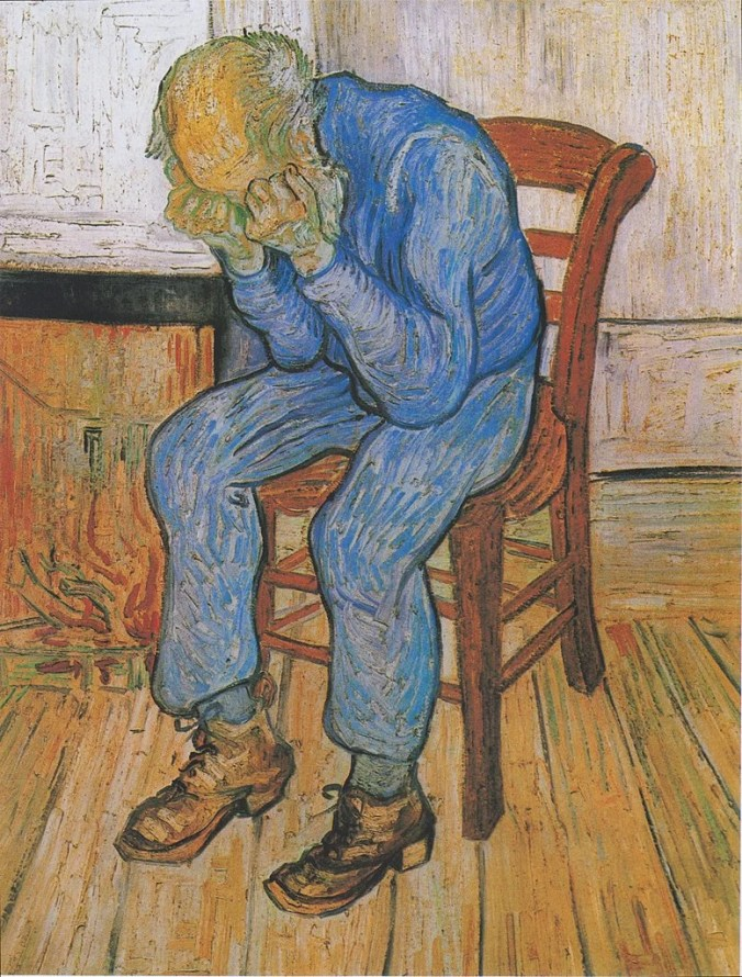 Vincent Van Gogh Painting of Sorrowing old man