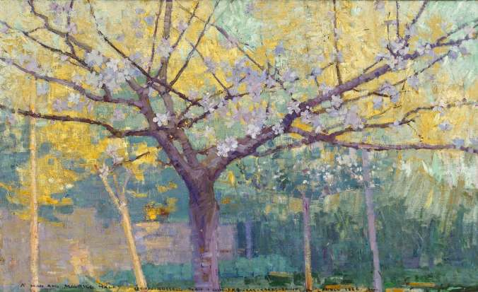 John Russell painting of trees