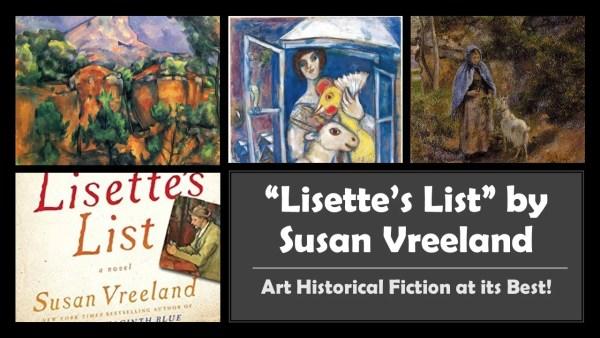 Art Historical Fiction entitled: Lisette's List by Susan Vreeland