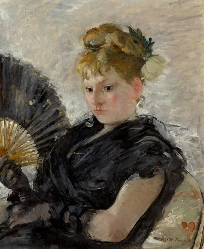 Berthe Morisot Painting - Woman with a Fan - Impressionism Artwork
