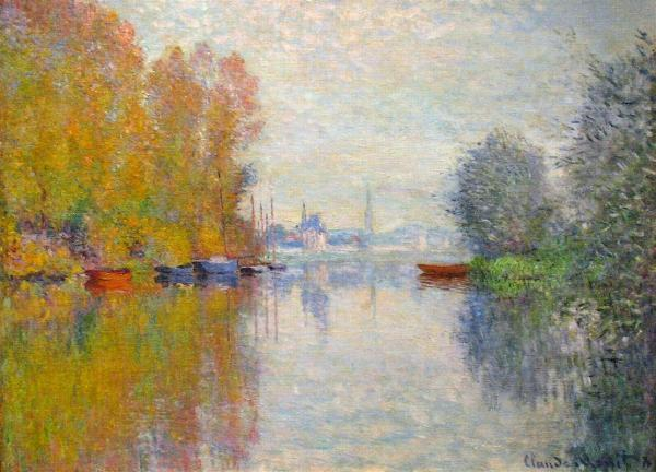 Autumn on the Seine at Argenteuil-Claude Monet