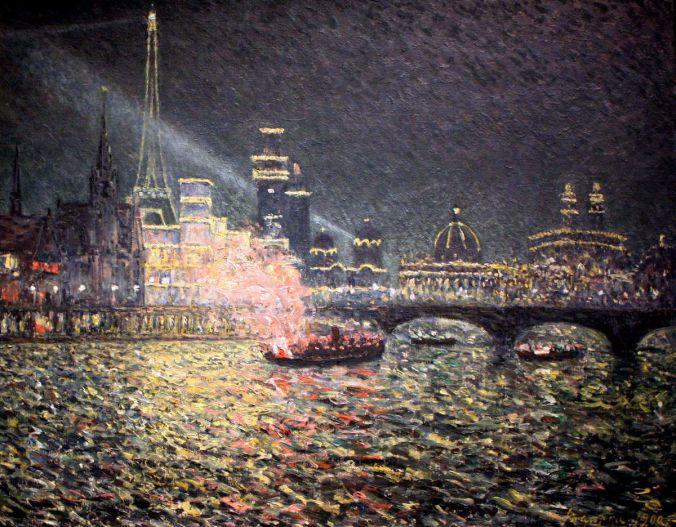 Maxime MAUFRA impressionism painting entitled: Féérie nocturne