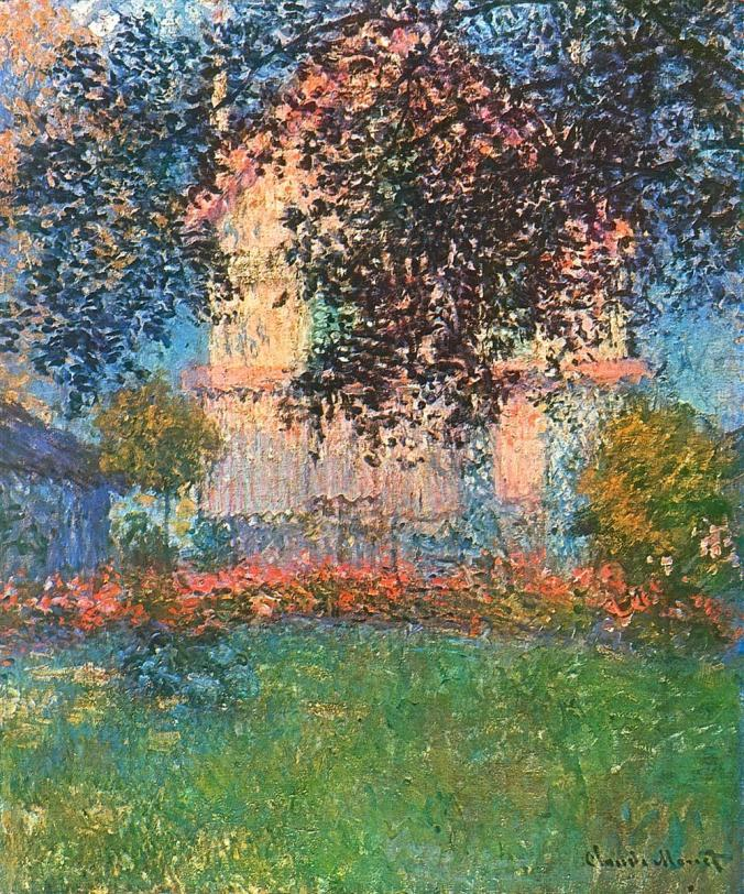 Claude Monet's House in Argenteuil - Painting by Monet