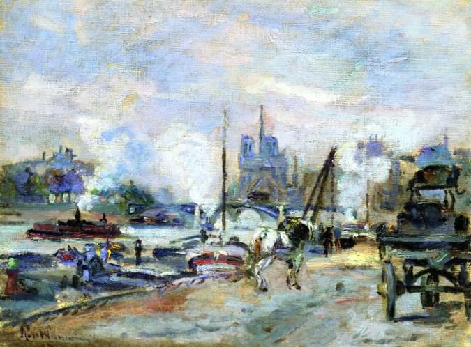 Notre Dame Paris - Armand Guillaumin Painting