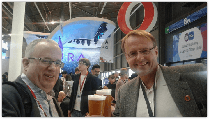 Brendan Eich and Hakon Wium Lie MWC 2016