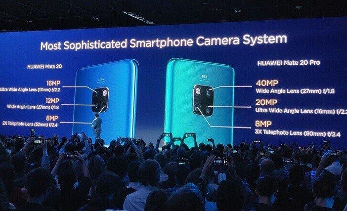 Mate 20 и Mate 20 Pro отличия камер