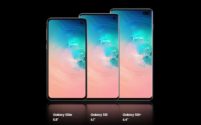 S10e, S10, S10 Plus размеры экрана отличия