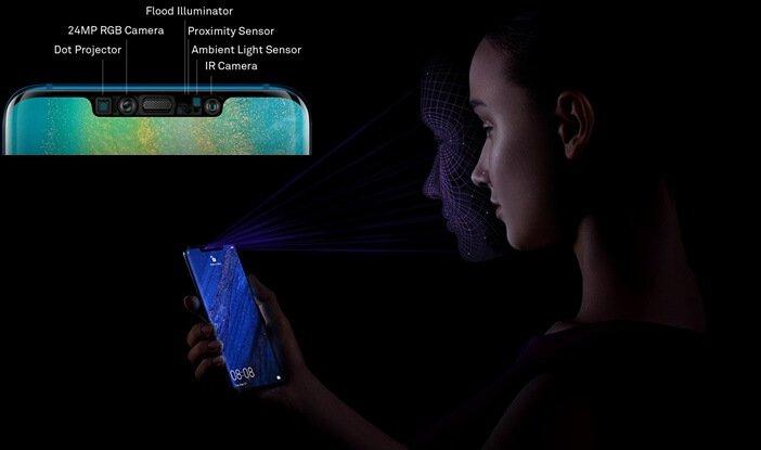 Mate 20 Pro распознавание лиц датчики в моноброви