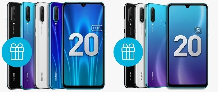Honor 20 Lite и Honor 20S