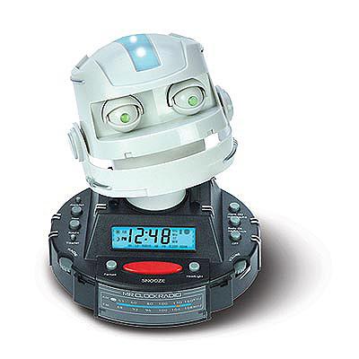 Robotic Alarm Clock Radio